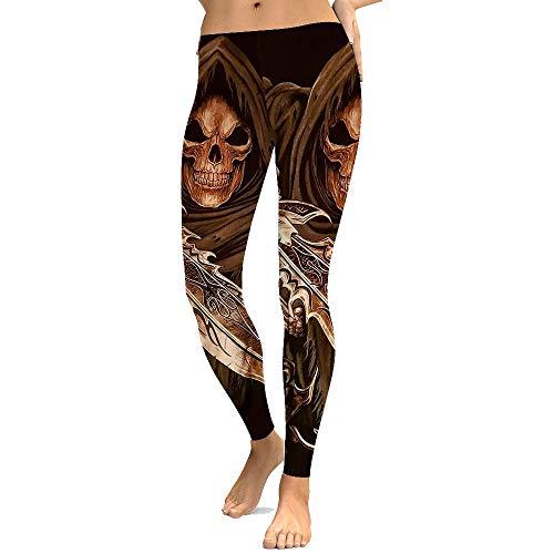 FANGNVREN Yoga Hose,Mode Persönlichkeit Vintage Totenkopf Leggins Halloween Nacht Party Kleidung Übergrößen Sport Yoga Hosen Damen Fitness Leggings Strumpfhose Hose Slim Läuft
