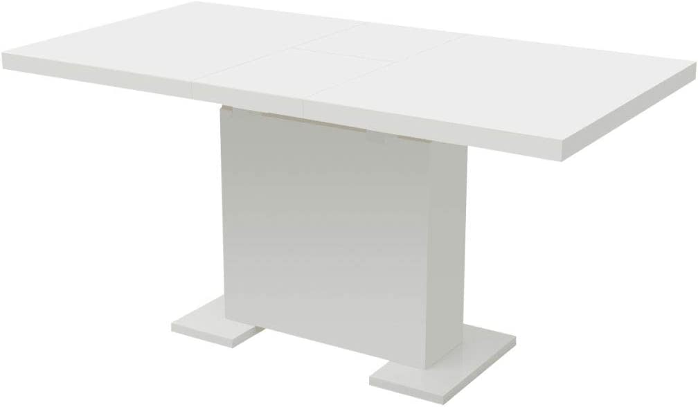 Courier shipping free shipping FAMIROSA Extendible High material Dining Spa Pedestal Table