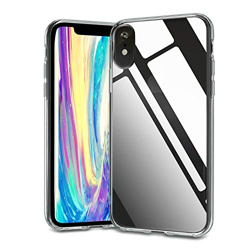 """Crystal Clear Case for iPhone XR, Soft TPU Transparent Protective Cover with Flexible Shock Absorption Bumper, Thin Slim Clear Case Compatible with iPhone XR 6.1"""" 2018(HD Clear)"""
