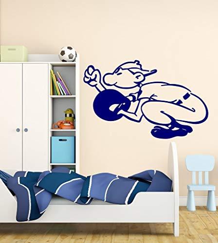 hetingyue Baseball Catcher Ball Vinyl muursticker, voor sport, jongens, Amerikaanse stijl, slaapkamer, spel, decoratie, mobiel