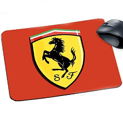 Tappetino Mouse Pad Personalizzabile sp 2mm Collezione Auto Moto Motori Ferrari Prodotto Compatibile per Appassionati della Ferrari Gadget Non Ufficiale