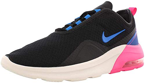 Nike Women's Air Max Motion 2 Running Shoes, 6, Black/Photo Blue-Hyper Pink