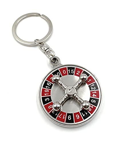 Onwomania - 'Juego de Ruleta de Casino Llavero: Amuleto de la Suerte de Metal, Ejemplo, para el Mejor Amigo, el Mejor Amigo, mamá, para Hombres, Mujeres y niños