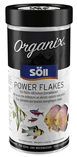 Söll Organix Power Flakes - Hauptfutterflocken für Zierfische, Fischfutter proteinreich mit Vitaminen für Aquarienfische mit viel Energie