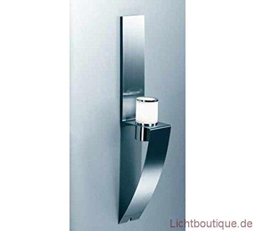 Herstal Symbol Wandleuchte 40W G9 Edelstahl gebürstet/Glas satiniert