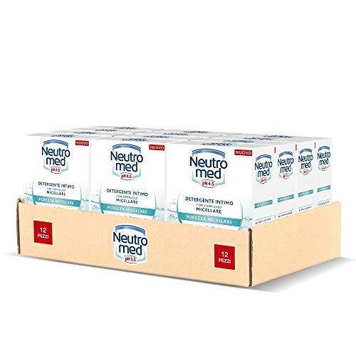 Neutromed Detergente Intimo Purezza Micellare, con Complesso Micellare, Azione Purificante, pH 4.5, 12 Pezzi x 200 ml