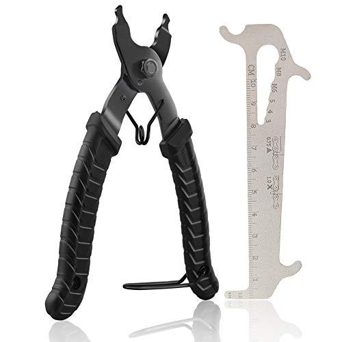 Fengzio Fahrrad Link Zange und Ketten messlehre Kettennieter Werkzeug Fahrradketten Zange und Ketten Prüfer für Rennrad Mountainbike Professionelle Präzisions Fahrrad Reparatur Werkzeug Set