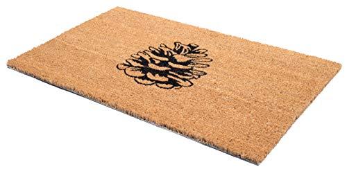 FAB HAB Pine Cone Felpudos 46 cm x 76 cm Natural Rubber, Anti-Deslizante, Durable