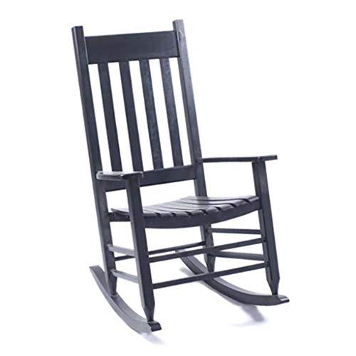 N /A Fauteuil à bascule en bois massif avec accoudoir pour la relaxation ou l'allaitement - Balancelle pour le salon, la cuisine, le balcon ou le jardin