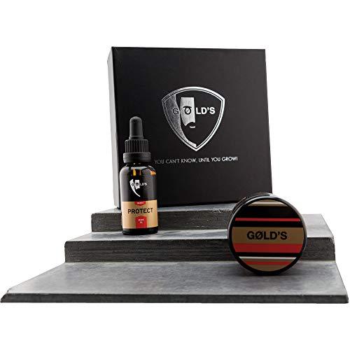 GØLD´s Bartpflege-Set bestehend aus Bartöl und Bartbalm Massiv, für einen gepflegten, weichen und gestylten Bart