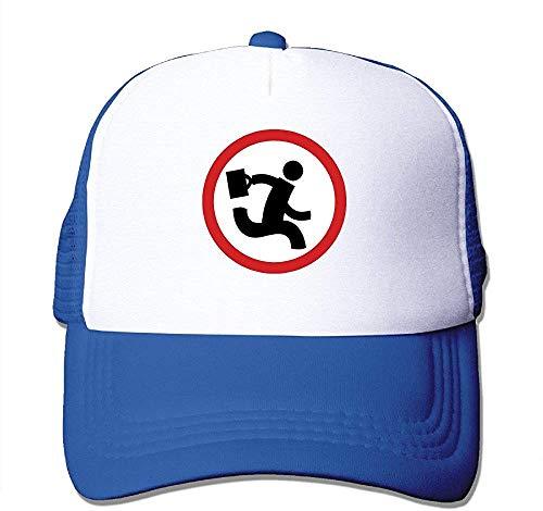 angwenkuanku Erwachsene Unisex Nerd Herd Logo Royalblau Trucker Hüte verstellbar Gorgeous31014