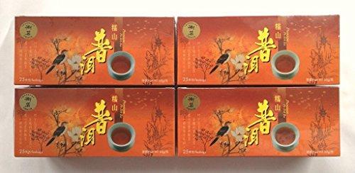 Tè dimagrante Pu Erh, 4 confezioni, 100 bustine, scorta per 2 mesi