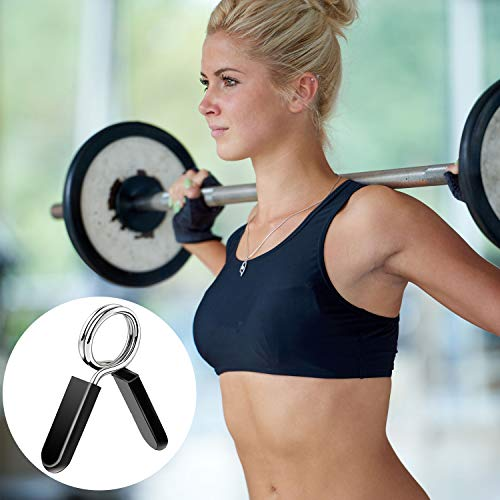 Hotop 16 Pieces Dumbbell Spring Collars Spring Clip Collars Exercise Collars Barbell Clip Clamps Spring Lock Collars for Gym Fitness Training Weight-Lifting, 1 Inch