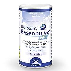 Dr Jacob's Base Powder plus met Real Lemon I voor meer energie, spieren, botten, hart en bloeddruk ik kalium calcium magnesium zink I vitamine C B B1 Ik ook veganistisch met diëten I 300 g Base Powder *