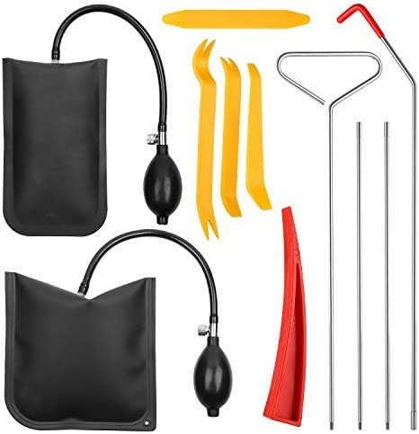 11pcs Essential Automotive Car Tool Kit with Air Wedge Long Reach Grabber Multifunctional Tool product image