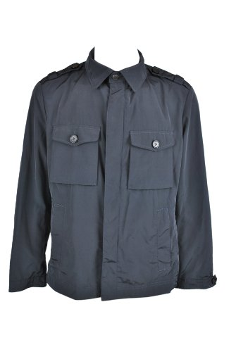 Hugo Boss Mens Black Chelese Flap Pocket Windbreaker Jacket 40R