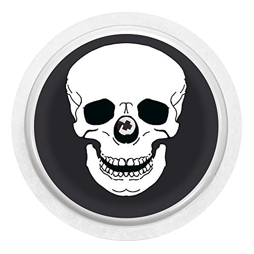 2x Totenkopf - Sticker Aufkleber für FreeStyle Libre Sensor Farbe schwarz