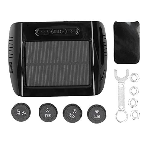 Aramox - Monitor de presión de neumáticos, sistema de control de presión de neumáticos de automóvil, detección de temperatura solar/USB TPMS, pantalla LCD, consola central montada con 4 sensores