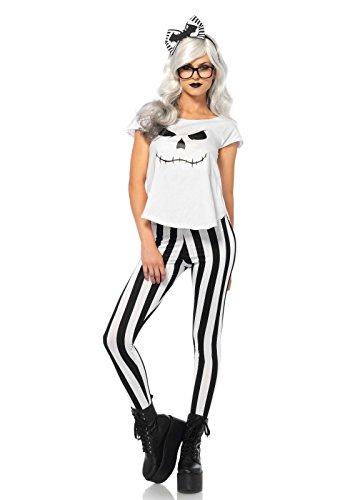 Leg Avenue para disfraz de mujer Hipster Esqueleto blanco y negro XS