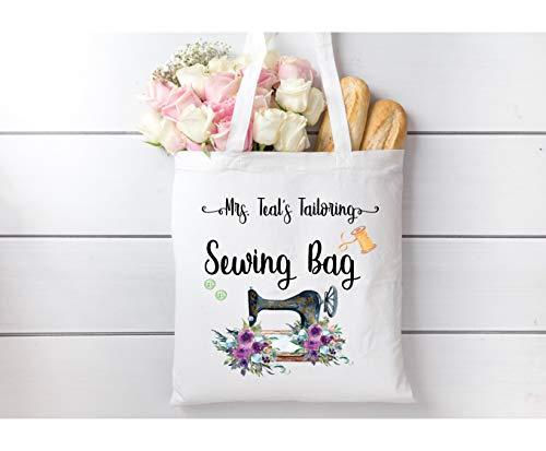 Bolsa de costura para máquina de coser, diseño vintage, color blanco