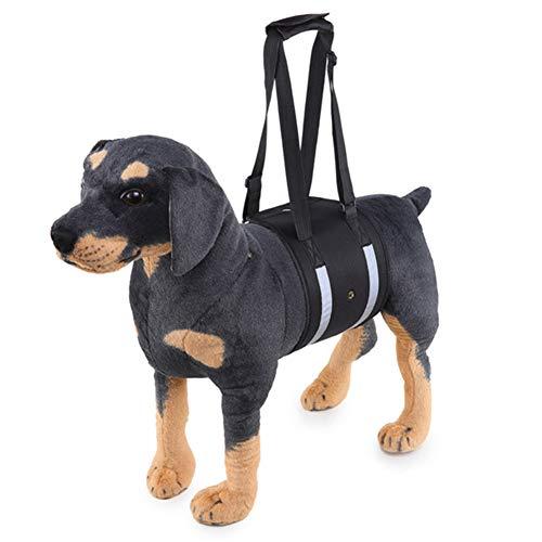ZFFLYH Hund Hebegeschirr, Hundelift Rehabilitation Harness, Soft-Sling-Assistent Den Hund, Sind Älterer, Verletzte, Behinderte,Xbd205 Reflective Black,L