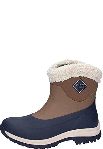 Muck Boots Damen Arctic Apres Gummistiefel, Braun (Otter/Total Eclispse Navy), 37 EU