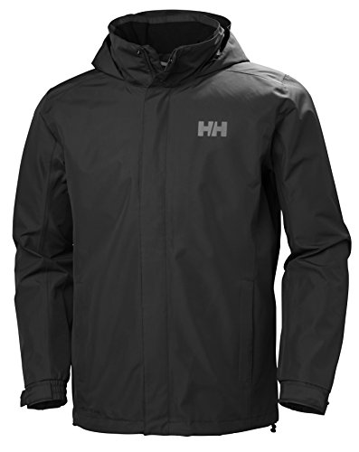 Helly Hansen Men's Dubliner Waterproof Windproof Breathable Rain Coat Jacket, 990 Black, X-Large