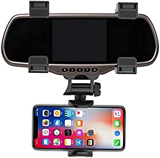 Multimedia Devices GPS Units Fits 3.5-5.5 Screens BlackBerry Samsung Galaxy Note Rubberized Clips Aduro Rearview Mirror Car Mount Grip Clip for Universal Smartphones 240/° Swivel iPhone//iPod
