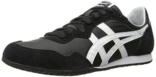 Onitsuka Tiger Unisex Serrano Shoes, 10.5W, Black/White