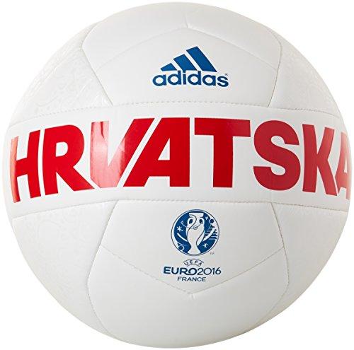 adidas Herren Ball EURO16 Croatia Capitano, Red/White/EQT Blue S16, 5