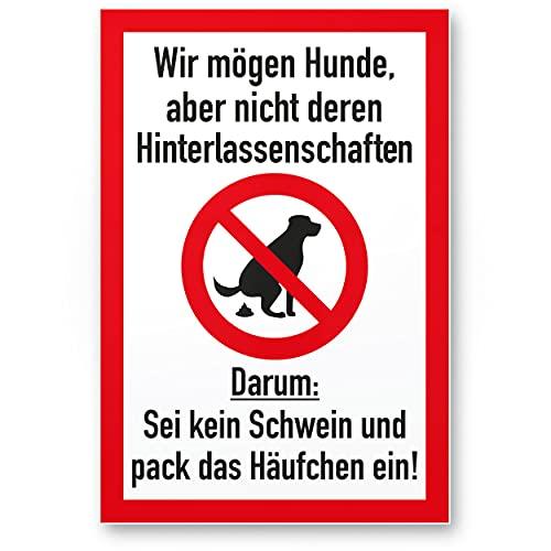 Komma Security Kein Hundeklo Keine Hundetoilette - Kunststoff Schild Hunde kacken verboten - Verbotsschild Hundeverbotsschild Verbot Hundeklo Hundekot Hundehaufen Hundekacke