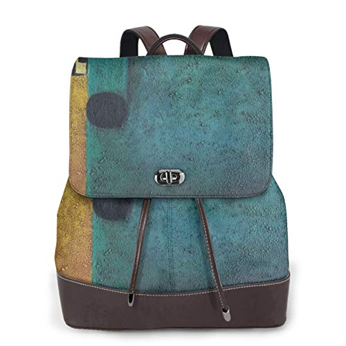 Women's Leather Backpack,Adult Computer Backpack,Draw Donkey Business Anti Theft Slim Durable Laptops Backpack College School Computer Bag.