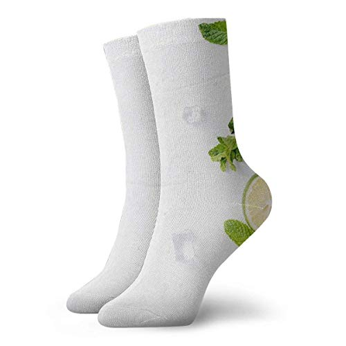 Warm-Breeze Lemon Leaves Compression Socks Unisex Socks Fun Casual Crew Socks Thin Socks Short Ankle For Outdoor Athletic Moisture Wicking