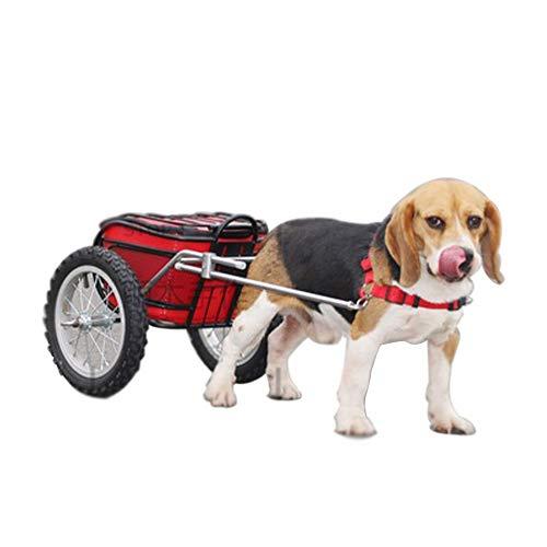 GYJ Hunderucksack Einkaufswagen, Ziehwagen LKW Zweirad Hundeziehfracht Zweirad, Geeignet für kleine und mittlere Hunde