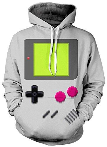 Imbry Herren Slim Fit Hoodie Long Sleeve Kapuzenpullover 3D Druck Muster Sweatshirt Pullover (L/XL, GB-7)