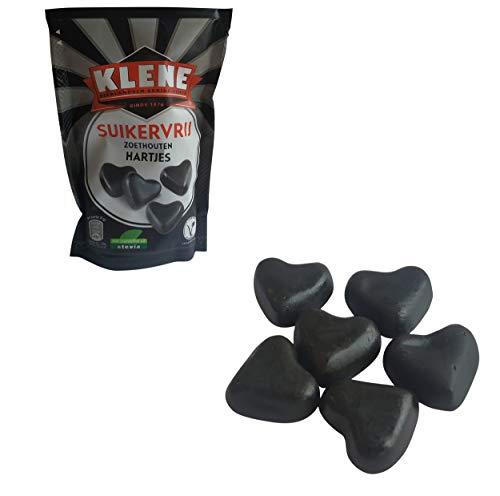 Dulces de regaliz bajos en carbohidratos | Klene | Corazones de regaliz sin azúcar | Peso total 105 gramos