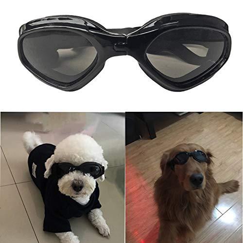 SHUIBIAN Hundebrille Fashion Haustier Hund Sonnenbrille Eye Wear Hund Wasserdicht Schutz UV Sonnenbrille Schutzbrille für kleine Mittelhunde(Black)