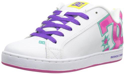 DC Shoes Damen Court Graffik Damenschuh Sneaker AD Template Gr, Weiß - Weiß Crazy Pink Citrus - Größe: 36 EU