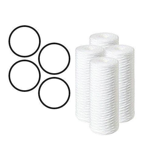 Compatible Replacement for Pelican Water PC40 10 in. 5 Micron Sediment Replacement Filter (4-Pack) by CFS
