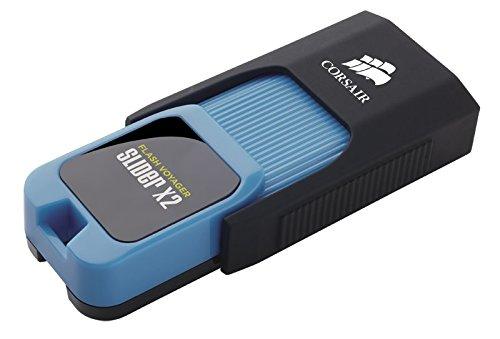 Corsair Voyager Slider X2 - Unidad Flash USB 3.0 de 256 GB, Color Negro