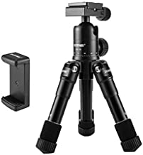 ZoMei Lightweight Compact Aluminum Alloy Mini Desktop Tabletop Tripod with 360 Degree Panoramic Ball Head and Quick Release Plate for Canon Nikon DSLR Cameras, etc, Black