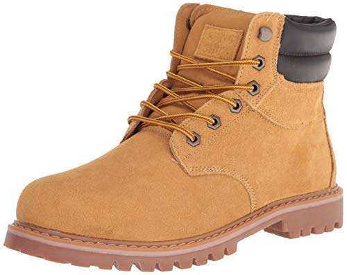 kingshow Men's 1801 Work Boots (12 M US Men's, Wheat)