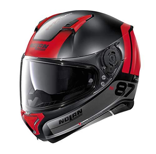 Nolan Herren N87 Helmet, Flat Black, XL