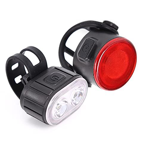 LED Fahrradlicht, LED Fahrradlicht Set,Front und Rücklicht,USB Fahrradlicht,4+6-Lichtmodus,IPX4 wasserdicht,superhelles Frontlicht,Outdoor und Nachtfahrten
