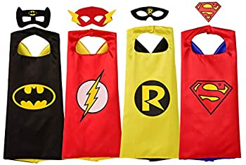Rubie s Super Hero Cape Set Officially licensed DC Comics Assortment 4 Capes 3 Masks and 1 Chest Piece One Size  Amazon Exclusive