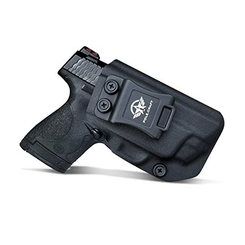 IWB Kydex Holster For Smith & Wesson M&P Shield 2.0 9mm 40 S&W Pistol Case - With Integrated CT Laser - M&P Shield 9mm Holster IWB - Concealed Holster M&P Shield 9mm With Laser (Black, Right Hand)