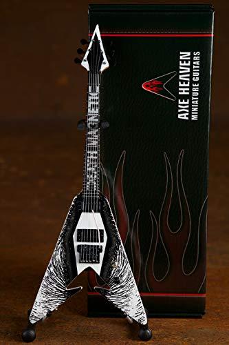 Metallica Kirk Hammett Death - Réplica de guitarra en miniatura magnética V coleccionable