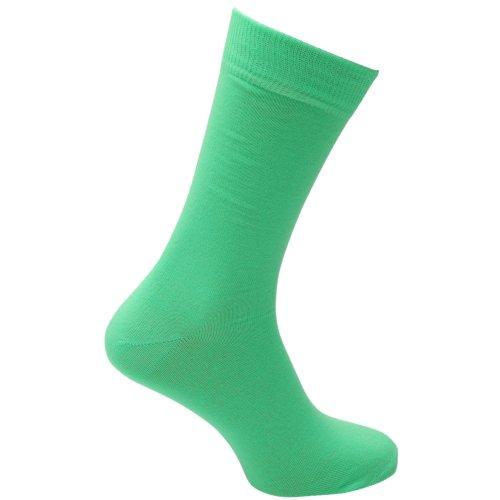 Universaltextilien Herren Socken in Neonfarben (39-46) (Neongrün)