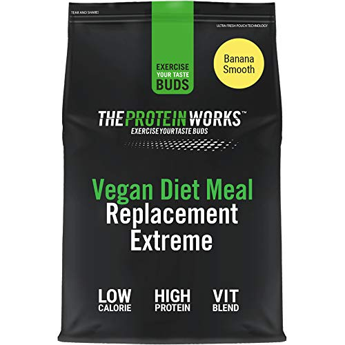 Vegan Diet Meal Replacement Extreme | Low Calorie, Weight Loss Shake | Essential Vitamins & Minerals | THE PROTEIN WORKS | Banana Smooth | 1kg