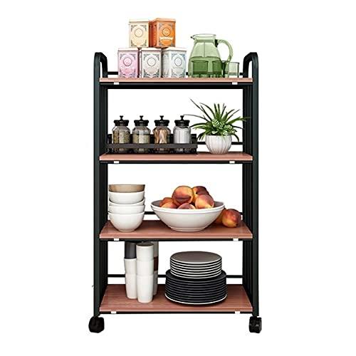FEANG Carrito de almacenamiento multifunción para islas/cocina con estantes abiertos para cocina, hogar, oficina, garaje, baño, carrito de almacenamiento de muebles de cocina (color: D)